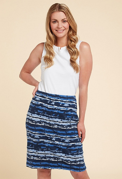 Flores Print Dallas Skirt