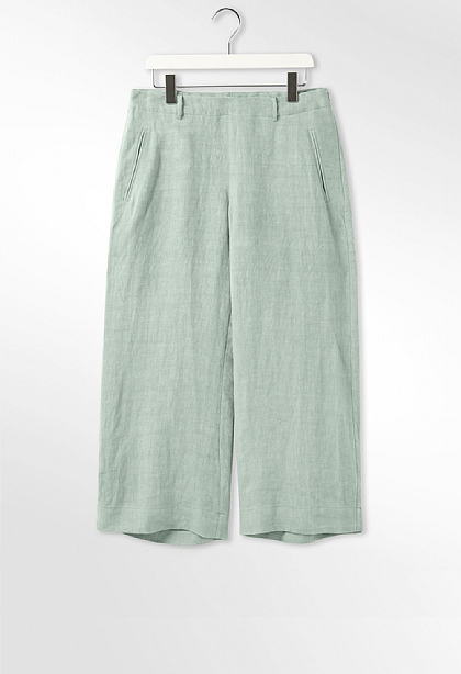 78d9bbbd30d Cheyenne Cropped Linen Trouser