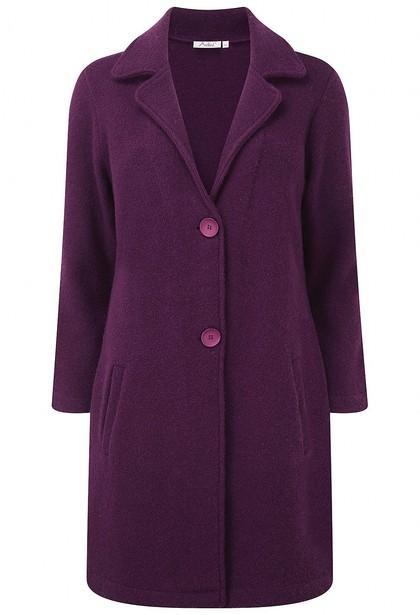 Boucle Boiled Wool Aurora Coat